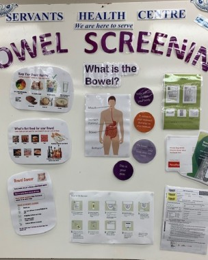 Bowel screening board