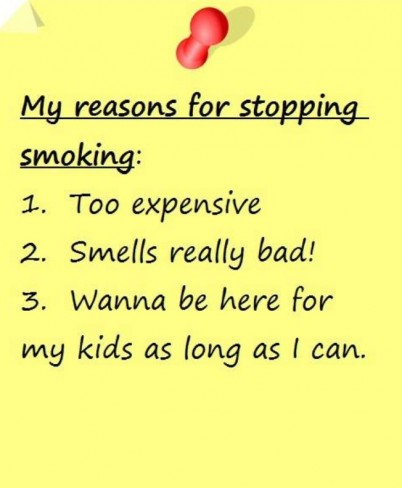 Reasons why stopping smoking